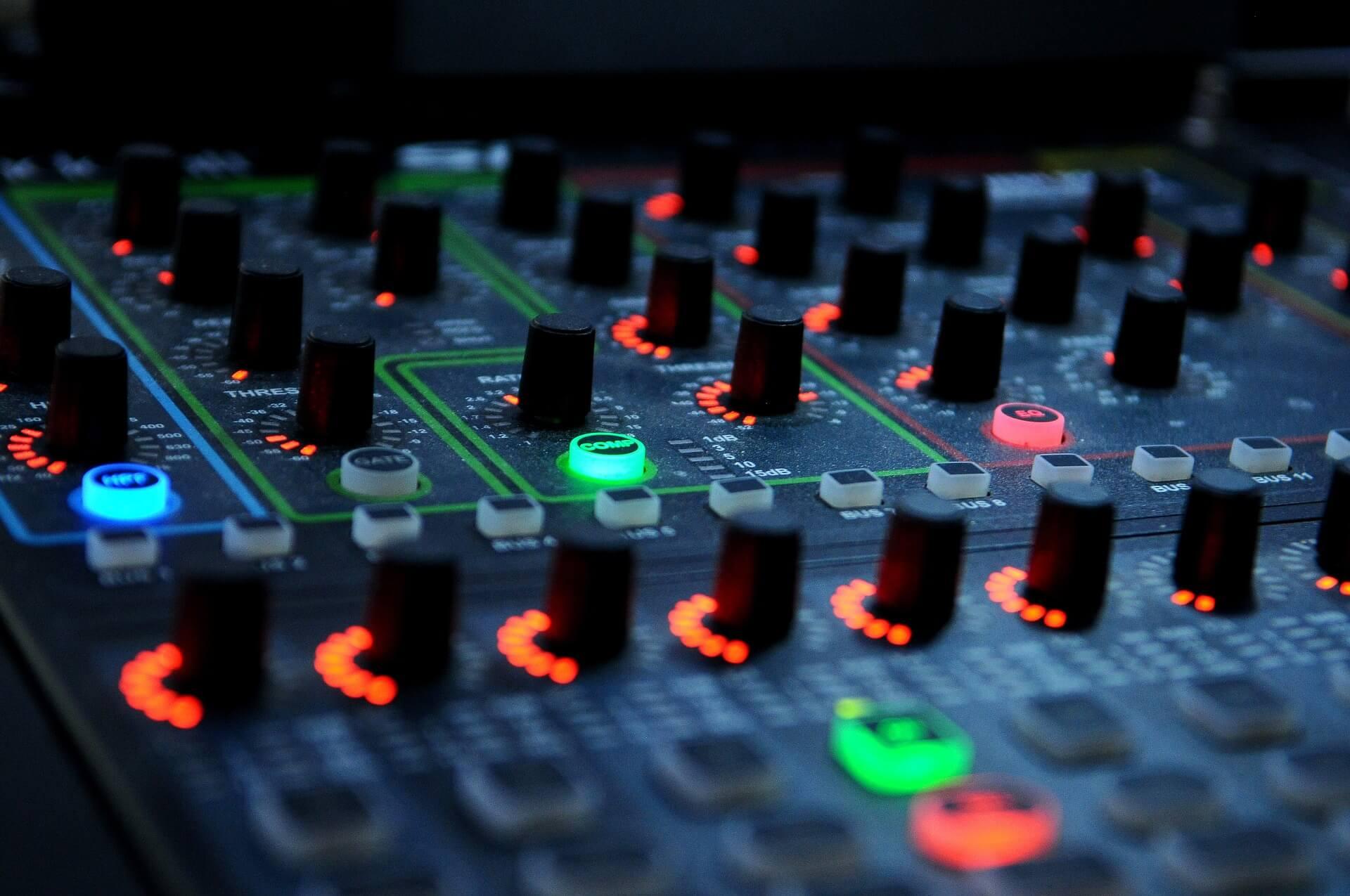 Bild på en mixer