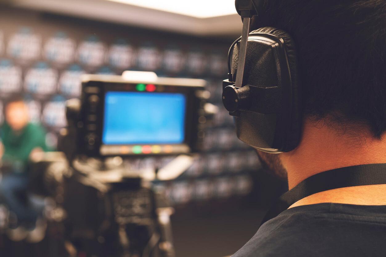 Kameraoperatör filmar event